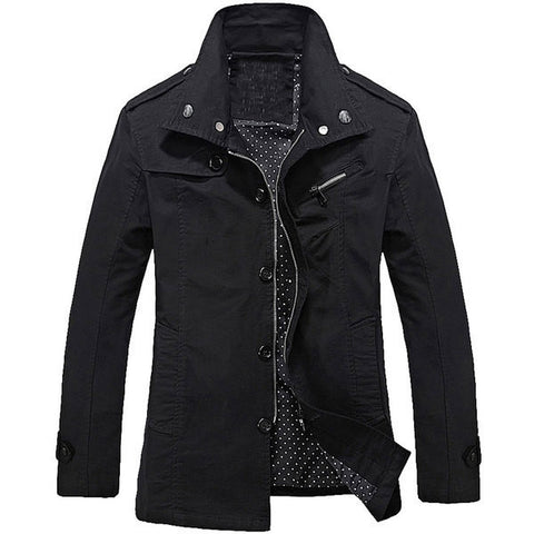 Mens Trendy Long Sleeve Jacket