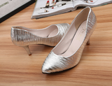 Womens Trendy Textured Low Heels