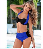 Cool Stylish High Waist Plus Size Swimsuit Bikini
