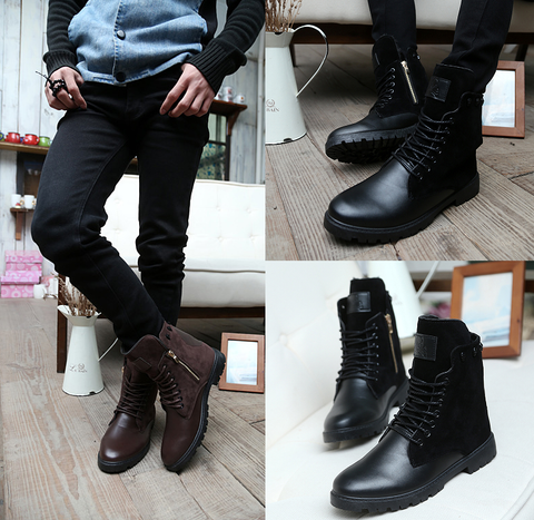 Mens Casual High-Top Stylish City Boots