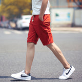 Mens Casual Cotton Slim Bermuda Beach Classic Knee Length Shorts