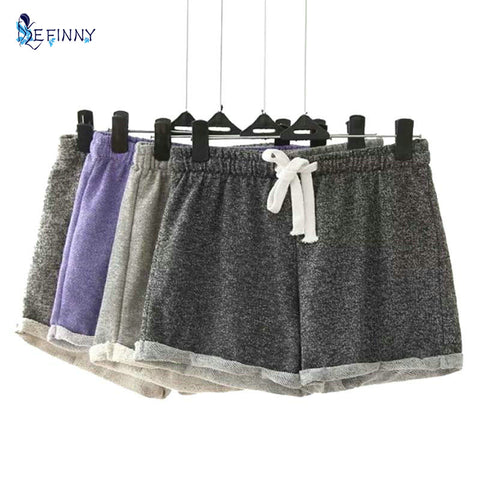 Womens Modal Cotton Casual Fashion Candy Color Elastic Waist Female Shorts