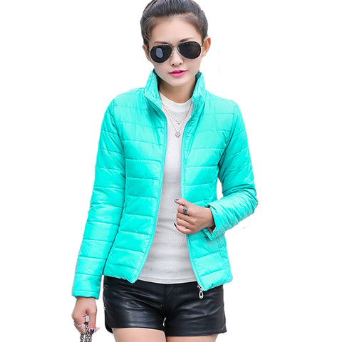 Womens Basic Puffly Winter Ultra Light Candy Color Jacket