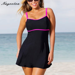 Womens One Piece Swimsuit Skirt Swimwear Plus Size Bathing Suit Push Up Vintage Monokini