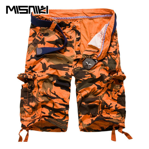Mens Summer Camouflage Cotton Cargo Casual Cool Shorts