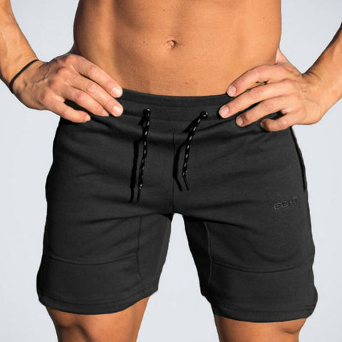Mens Cotton Calf Length Gym Fitness Casual Workout Shorts