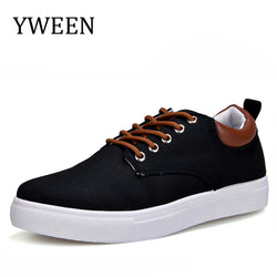 Mens Casual Spring Autumn Fashion Sneakers Solid Canvas Shoes