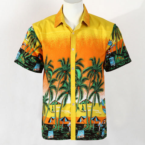 Men's Hawaiian Beach T-Shirt Summer Shirt