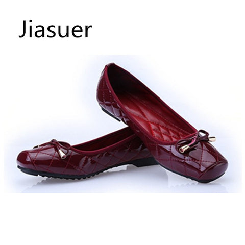 Womens Patent Leather Flat Ballet Flats