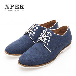 Mens Summer Comfortable Low Casual Denim Lace-UP Breathable Shoes