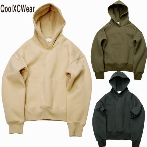 Mens Cool Urban Hip Hop Warm Solid Pullover Hoodie