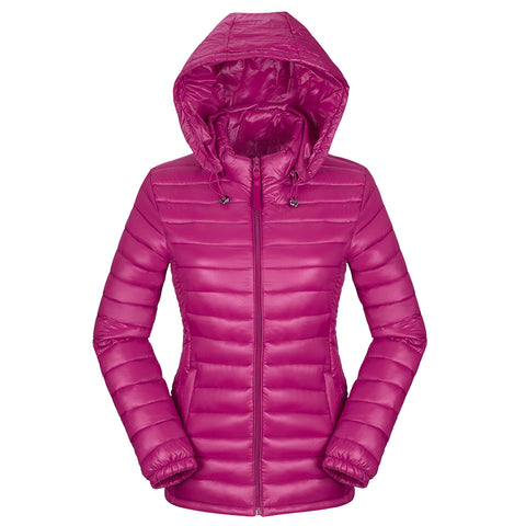 Womens Winter Basic Jelly Light Candy Color Puffy Jacket