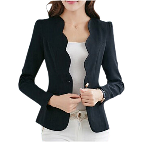 Womens Casual Slim Short Suit Design Office Jacket