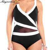 Womens Plus Size Swimwear Push up New Bathing Sexy Halter Swimsuit Solid Beachwear Monokini