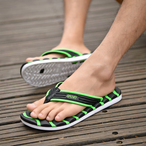 Mens High Quality Sandals Slippers Beach Shoes Summer Non-slip Flops