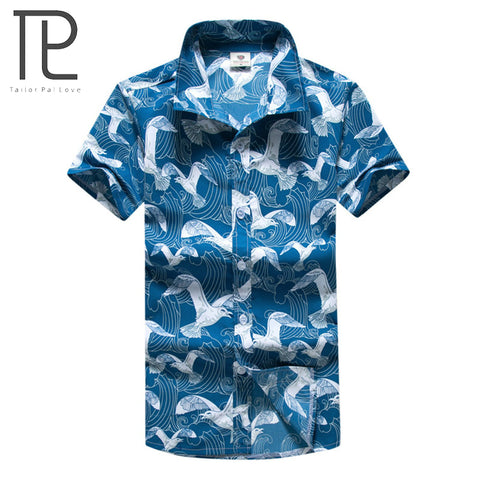 Mens Slim Fit Hawaiian Casual Short Sleeve Summer Printing Beach Shirt