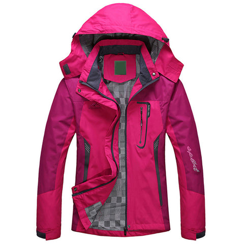 Womens Winter Thick Outwear Hooded Wind Waterproof Jacket