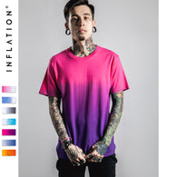 INFLATION Tee Men's Funny Hip Hop Dip Dye Cotton O Neck Short Sleeve Tee 039S16