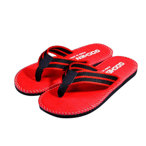 Mens Summer Stripe Flip Flops Shoes Sandals Slippers