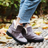 Womens Fashion Warm Fur Plush Ankle Winter Boots