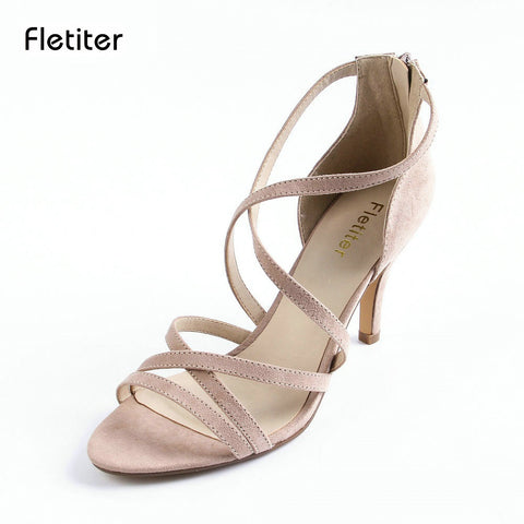 Womens Summer Gladiator Shoes Sexy Peep Toe Heels