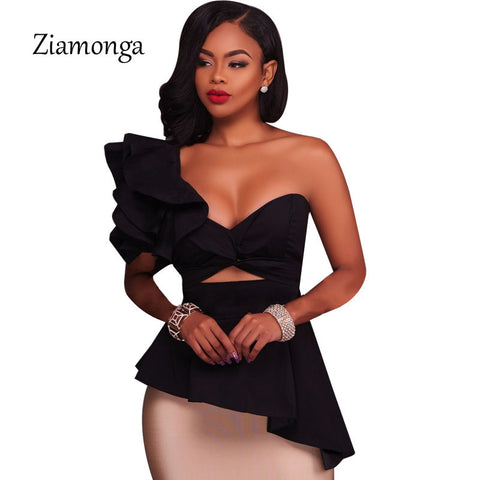Womens One Shoulder Bodycon Sexy Strapless Summer Dress
