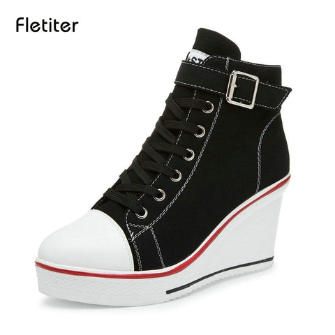 Womens Wedges Sneakers Height increase 10cm Platform Shoes Fashion Elevator High Shoes