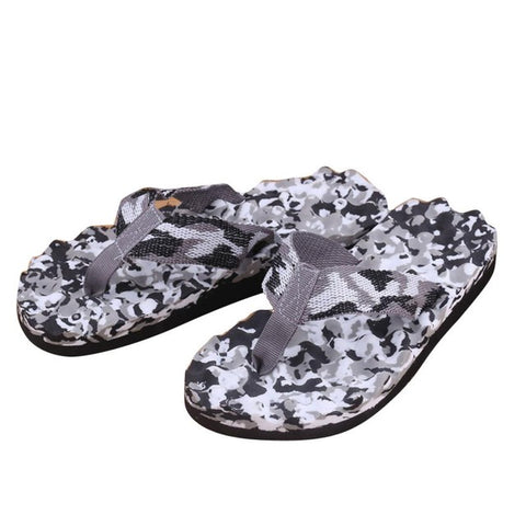 Mens Summer Camouflage Flip Flops Shoes Sandals