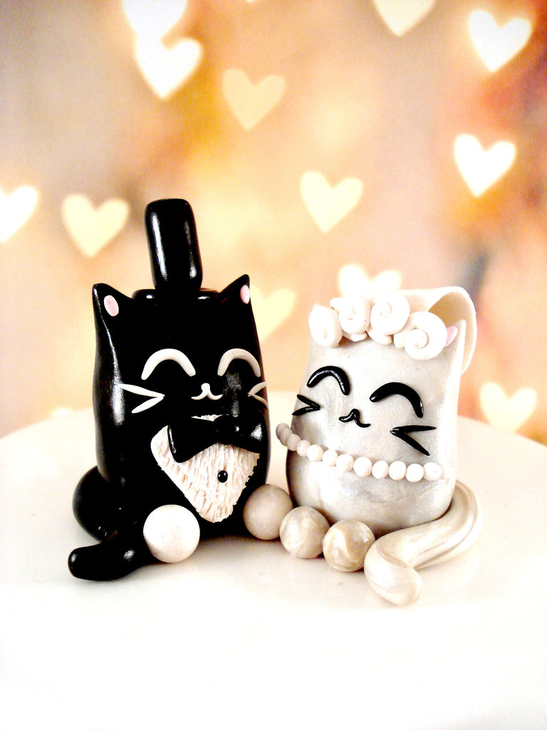 Cat wedding cake toppers cat cake toppers pet wedding cat wedding cake toppers junglespirit Choice Image