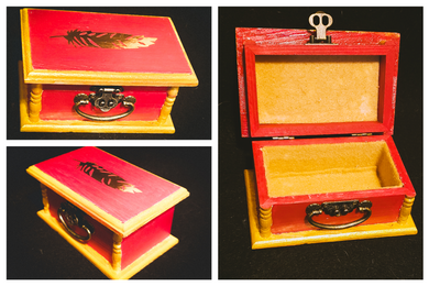 Hand-painted tricket box.