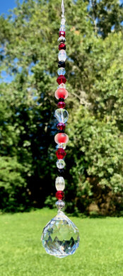 Crystal Sun Catcher - Lady Bug Red and Black