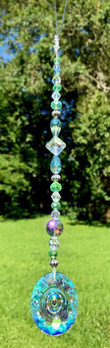 Crystal Sun Catcher - Blues and Greens