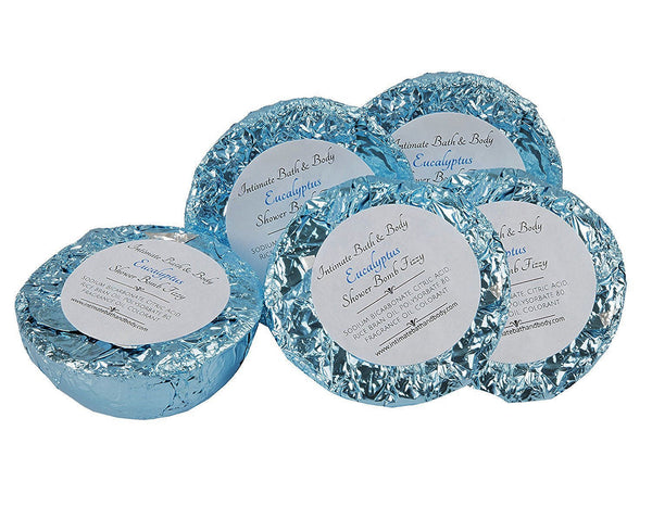 Shower Bomb Fizzies - 5 Pack Aromatherapy Shower Steamers - Eucalyptus