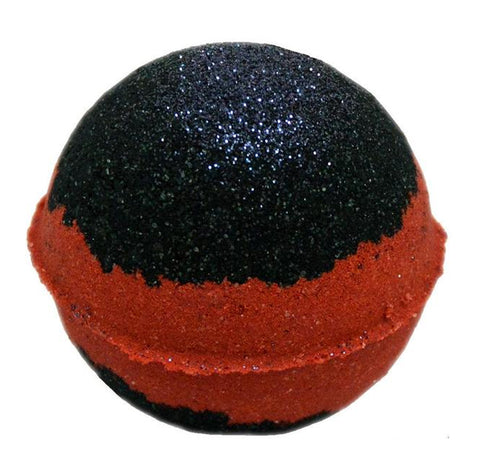 Bath Bomb 5.5 oz Sabbath Bloody Sabbath Deep Chasm Black & Red Striped