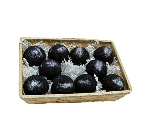 Basket of Bombs- 10 pcs. Black Bath Bombs 5.7 oz Aloe Vera Kaolin Clay scented w/ Little Black Dress