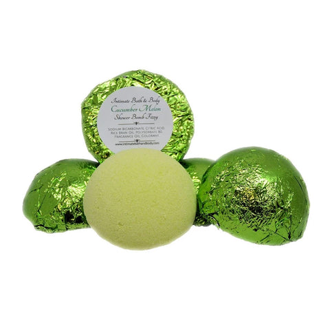 Shower Bomb Fizzies - 5 Pack Aromatherapy Shower Steamers - Cucumber Melon