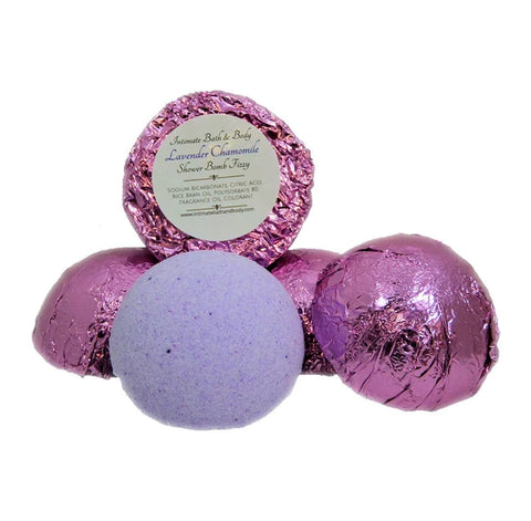 Shower Bomb Fizzies - 5 Pack Aromatherapy Shower Steamers - Lavender Chamomile