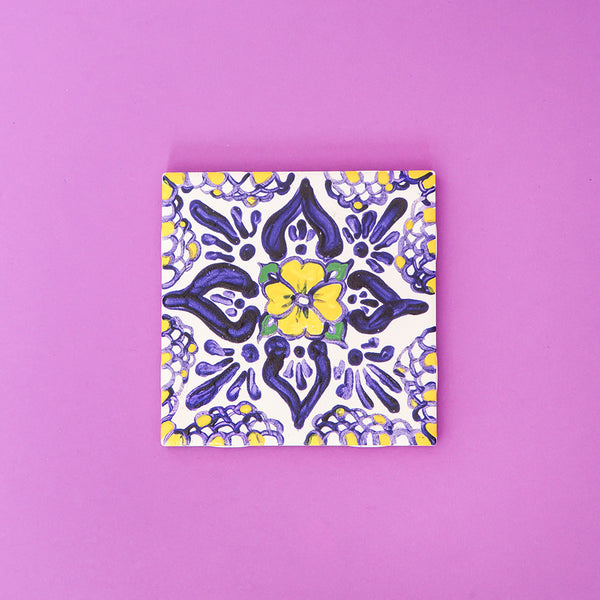 DIY Mexico painted tile. Tingomo Passport Craft Kits, www.tingomo.com