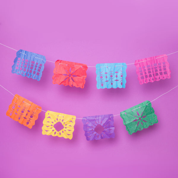 DIY Mexico Papel Picado / Fiesta Flags. Tingomo Passport Craft Kits, www.tingomo.com