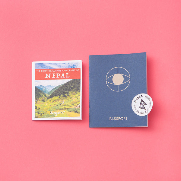 Nepal country guide and passport. Learn about the world while making beautiful art. Tingomo Passport Craft Kits, www.tingomo.com