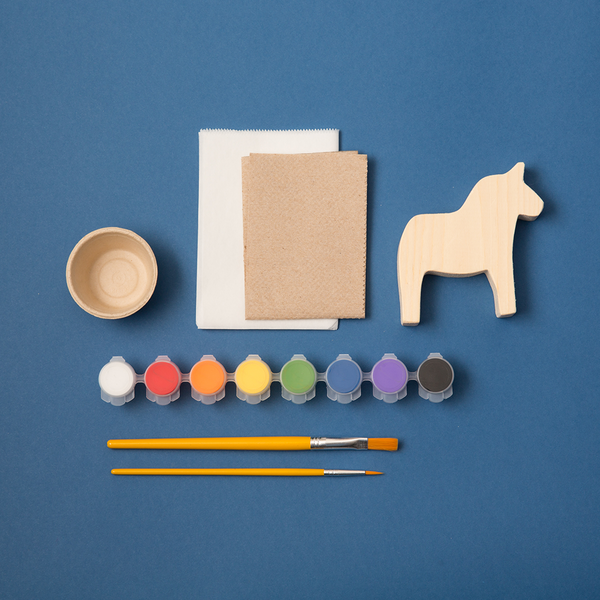 MAKE YOUR OWN SWEDEN PAINTED WOOD HORSE // PRE-ORDER