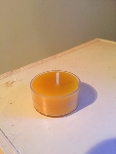 Tealight Candle - Plastic Base - Pure Beeswax