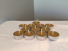 Tealight Candle - Metal Base - Pure Beeswax