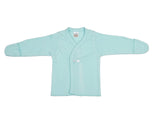 1007 | Baby Long Sleeves Kimono T-Shirt w/ Mittens - Mint