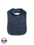 2001N - 2 Ply Baby Bib with Velcro Closure - Navy