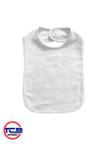 2001W - 2 Ply Baby Bib with Velcro Closure - White