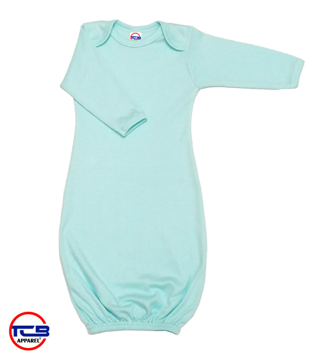 4870M | Baby Long Sleeves Gown - Mint