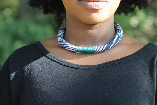Adire Short Rope Necklace