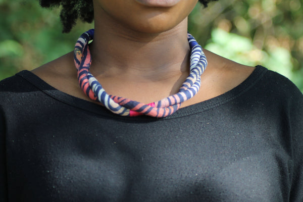 Adire Twist Rope Necklace