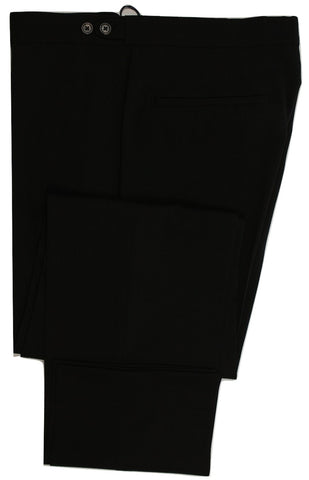 Equipage - Black Wool Pants w/Tab Adjusters - PEURIST